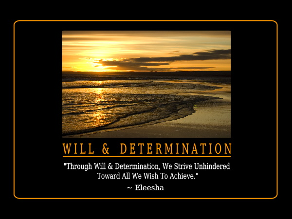 will and determination inspiration quote affirmation