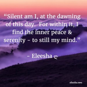 00001 Silent Am I PicQuote by Eleesha Inspiration Quote Affirmation Sayings