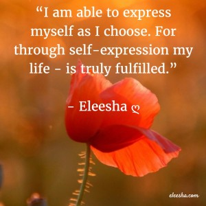 00032 I am able to express PicQuote by Eleesha Inspiration Quote Affirmation Sayings