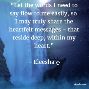 00036 Let the words PicQuote by Eleesha Inspiration Quote Affirmation Sayings