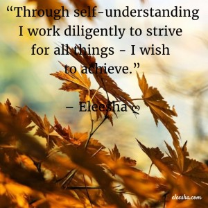 00051 Through self-understanding PicQuote by Eleesha Inspiration Quote Affirmation Sayings