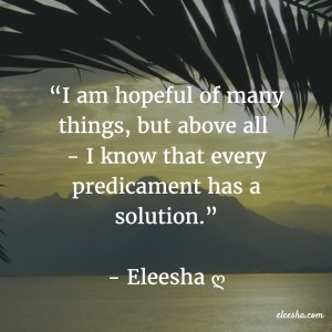 00082 I am hopeful PicQuote by Eleesha Inspiration Quote Affirmation Sayings