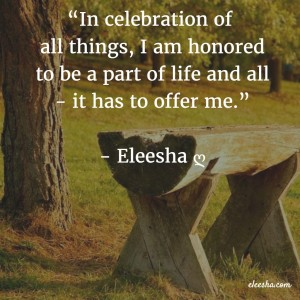 00095 In celebration PicQuote by Eleesha Inspiration Quote Affirmation Sayings